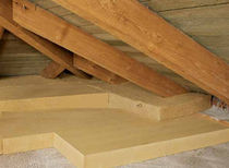 rigid natural insulated roof panel in wood fiberboard STEICOTOP STEICO