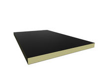 rigid polyisocyanurate foam insulation panel (with bitumen facing) EUROAÏLLANT Europerfil