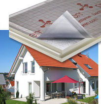 rigid polyurethane foam insulation panel for roof with aluminium finish PUREN PROTECT puren gmbh