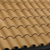 roman interlocking clay roof tile ROSSA LISCIA FBM Fornaci Briziarelli Marsciano