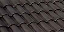 roman interlocking clay roof tile (glazed) DARK BROWN VE-VA