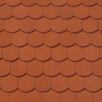 round-cut plain roof tile in clay MANUFAKTUR Creaton AG