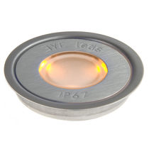 round recessed floor LED spotlight MULTI AMBER ROUND Eyeleds