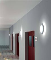 round wall mounted fluorescent luminaire JOT (C-W) by Paolo Bistacchi TRE CI LUCE
