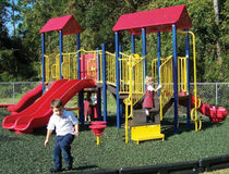 rubber mulch flooring for playgrounds  BYO Playground, Inc.