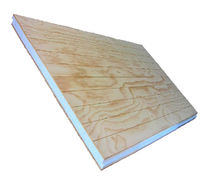 sandwich panel: wood and polystyrene core  RE.PACK