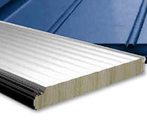sandwich panel: metal and mineral wool core HOESCH ISOROCK® INTEGRAL D Hoesch Bausysteme GmbH
