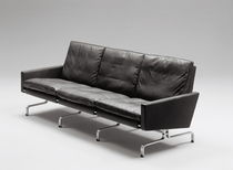 scandinavian design leather sofa PK31�by Poul Kjærholm Fritz Hansen