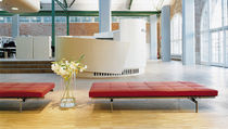 scandinavian design upholstered bench PK80 by Poul Kj&aelig;rholm Fritz Hansen