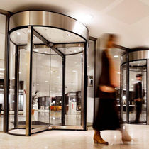 security revolving manual door for commercial buildings REVOLVING GUNNEBO