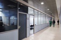 semi glass partitioned removable partition wall M92 Movinord