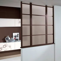 semi glass partitioned removable partition wall INTERNOS unico italia