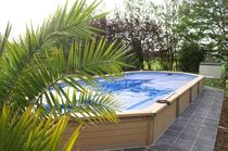 semi-inground wooden swimming pool AZTECK ZODIAC