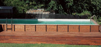 semi-inground wooden swimming pool DOLCEVITA LAGHETTO