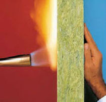 semi-rigid slag-based wool insulation panel ROXUL® All Noise Control