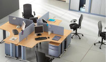 shared workstation for open plan office (4 workstations) VITAL Samas