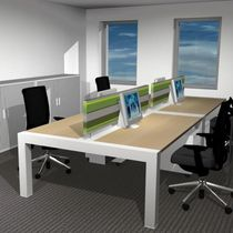 shared workstation for open plan office (4 workstations) MI Kembo