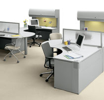 shared workstation for open plan office TRUE&reg; DESKING  KI