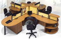 shared workstation for open plan office LINKS  Office Furniture Group