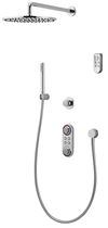shower set with digital mixer tap (wireless transmission) ILUX FIXED WALL aqualisa