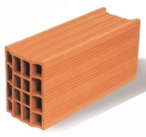 side construction block (hollow clay brick) OPTIBRIC PV 15  IMERYS Structure