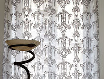 silk sheer curtain fabric NYMPHEA  VEREL DE BELVAL