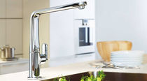 single handle mixer tap for kitchen with pull out spray VERIS GROHE