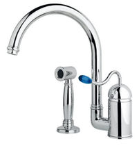 single handle mixer tap for kitchen with pull out spray 3408WS**20 NICOLAZZI