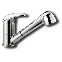 single handle mixer tap for kitchen with pull out spray 08018 OMBG