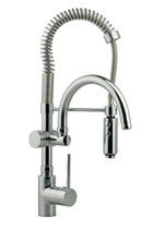 single handle mixer tap for kitchen with pull out spray CUCINA: LL 00062 0 by Luigi Trenti Cisal Rubinetterie