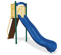 slide for playground 8' VELOCITY  BYO Playground, Inc.