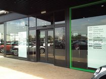 sliding automatic door for commercial buildings  KONE