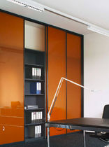 sliding coloured glass panel  Raumplus
