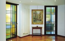 sliding coloured glass panel MONDRIAN PREA