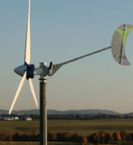 small three-bladed horizontal axis wind turbine XZERES 442SR-10KW Aeolus Power