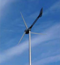 small three-bladed horizontal axis wind turbine EVANCE R9000-5KW Aeolus Power 