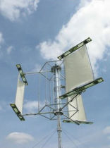 small three-bladed vertical axis wind turbine (Darrieus rotor) TRADE WIND-15KW Aeolus Power