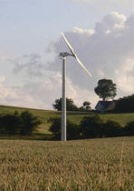 small two-bladed horizontal axis wind turbine GAIA WIND 133-11KW Aeolus Power