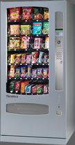 snack vending machine with dual temperature zones 850 WURLITZER