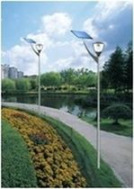 solar contemporary garden lamp post NESL-SGL002 CHANGZHOU NESL SOLARTECH