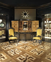 solid wood floor tile FOGLIE D'ORO : GENOVA ARTE BROTTO