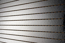 sound absorption wall panel (metal imitation) SCREENBALL&reg;: LAMINATE ALUMINIUM SILVER PREAM s.r.l
