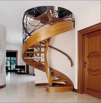spiral classic staircase (wooden steps and frame) STILYSH: MS-37 Marchewka