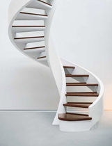 spiral design staircase with lateral stringer SERIE C-SA EDILCO
