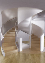 spiral design staircase with lateral stringer SQUIRREL'S WOOD Q5124 SPIRAL Stairs