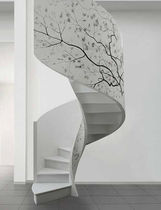 spiral design staircase with lateral stringer SERIE C-NS EDILCO