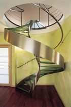 spiral design staircase with lateral stringer PRIVATE VILLA ESSEMME