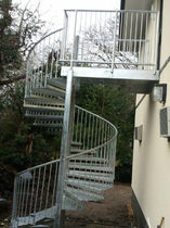 spiral fire escape staircase in metal  New Forest Metal Work