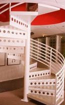 spiral staircase for commercial buildings (metal frame and steps) SPACE SAVING STAIRWAYS inc