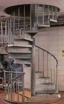 spiral staircase for commercial buildings (metal frame and steps) 72S STAIRWAYS inc